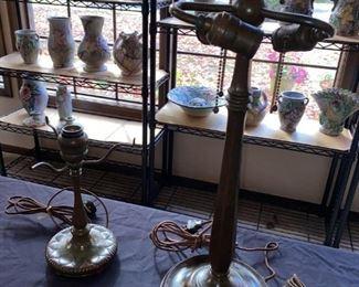 Tiffany lamp bases