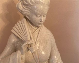 "#7 Geisha made in Italy porcelain cream 54"" x 18"" 				$450"