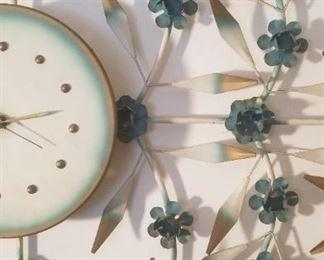 Detail on wall art clock