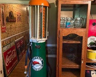 Fully restored original gas pump!! INCREDIBLE