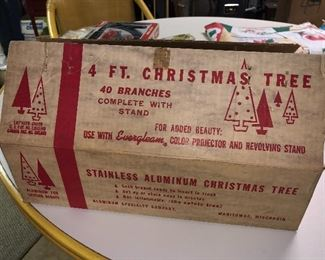 4 foot aluminum Christmas - never used!