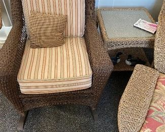 Wicker Furniture - Excellent Condition, used on enclosed back porch.