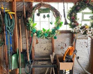 Wreaths, Yard Tools