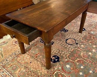 Antique bench/table with one drawer