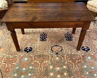 Antique bench/table with on drawer