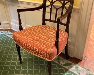 "One of six period Regency dining chairs signed with makers mark ""G. Wills"""