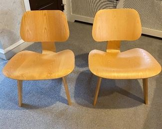 Modern Eames Herman Miller plywood chairs
