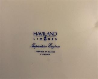 "Haviland ""Imperatrice Eugenie"" china service for 12"