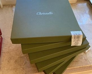 Set of 12 Christofle underplates/chargers