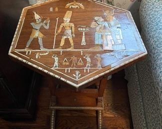 Inlaid Egyptian table/stand