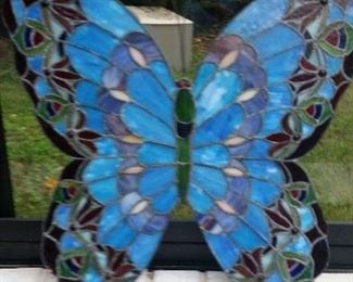 """Spectacular stained glass butterfly - 22 x 20"""""""