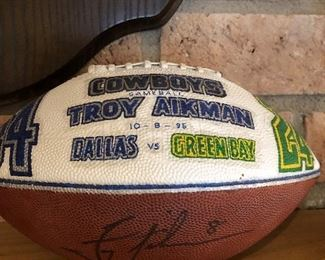 Signed, Troy Aikman 10-8-1995