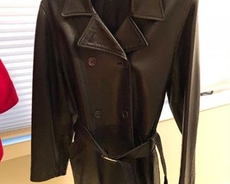 BUY IT NOW! $75 Coach Leather women's belted coat size S