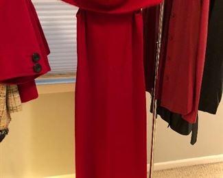 BUY IT NOW! $45 LAUREN Ralph Lauren sz M 100% Merino Wool maxi dress with Angora collar
