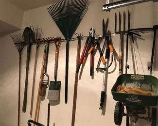 misc yard and garden tools available for sale in person on sale days