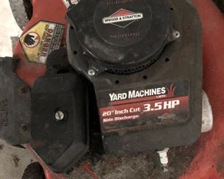 "BUY IT NOW! $65 Briggs & Stratton Yard Machines 20"" 3.5hp gas push lawn mower"
