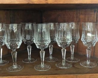 """BUY IT NOW! $32 heavy Crystal Wine glasses, set of 8, 8""""H, matches set of white wine glasses"""