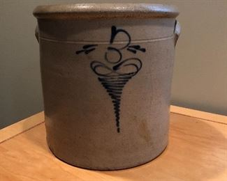 "BUY IT NOW! $75 antique salt glazed 3 gal crock 10.5""H x 10.5""W"