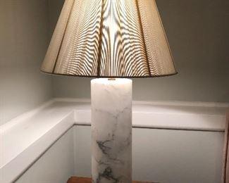 "BUY IT NOW! $75 Marble column lamp 33""H"