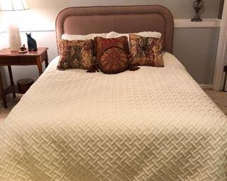 BUY IT NOW! $100 Queen upholstered headboard and mattress set