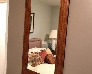 """BUY IT NOW! $75 Vintage oak framed mirror 48""""H x 25.5""""W"""