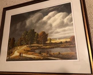 """BUY IT NOW! $145 Thomas Locker serigraph """"Summer Storm"""" signed and numbered"""