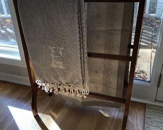 Antique quilt / blanket rack