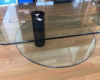 BUY IT NOW $325 Modern Waterfall bent glass 2 tier coffee table