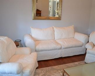 Craft master Living Room Love-Seat and 2 Club chairs