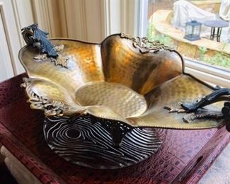 unique metal hand made bowl