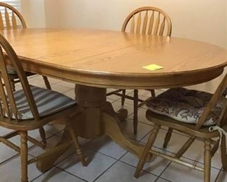 001 Oak Table Chairs