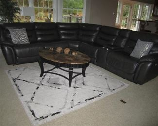 GRAY SECTIONAL WITH END RECLINERS
