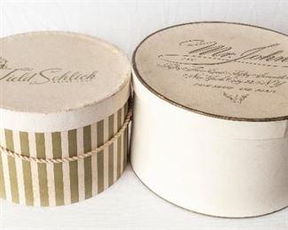 2 Vintage Hat Boxes Field & Schlick Mr. John