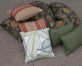 Lot of designer pillows