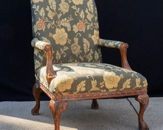 Green Upholstered arm chair