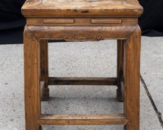 Vintage small square side table