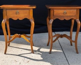 Two Square Top end table with drawer