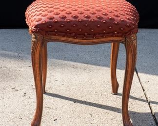 Red Upholstered Foot stool