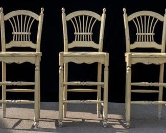 3 Vintage Bar Chairs