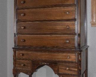 Mahogany Highboy Dresser