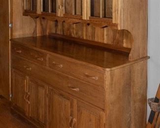 Hand Crafted Walnut Hutch and Buffet