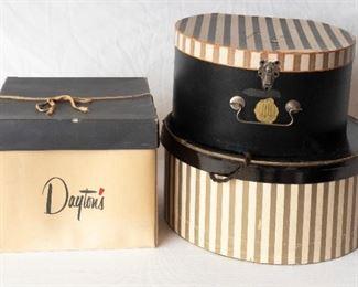 3 Vintage Hat Boxes 1 Daytons 2 Other