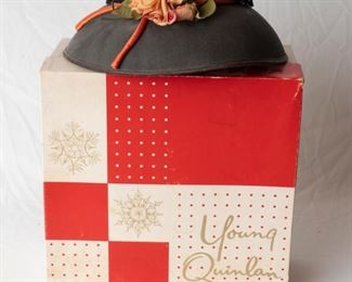 Vintage Young Quinlan Hat and Box