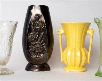 Assorted Vintage Vases including Red Wing