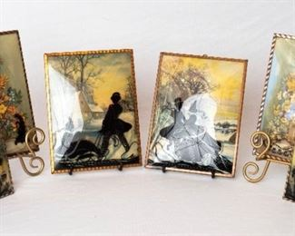 Vintage Reverse Painted Pictures
