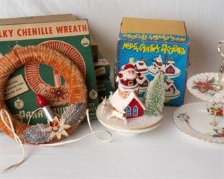 assorted Vintage Christmas Decor