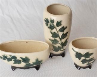 Vintage 3 Piece Ceramic Vase set