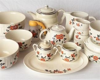 Hall's Kitchenware, Tea Set, Syrup Dispenser, Pitcher