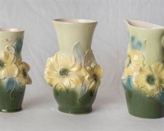 3 Floral Copley Vases