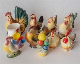 Copley Ceramic Chickens